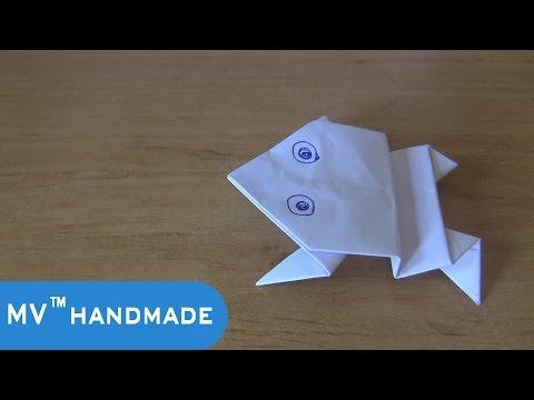 Hướng Dẫn Gấp Con Ếch Nhảy Được [How To Make a Paper Frog]