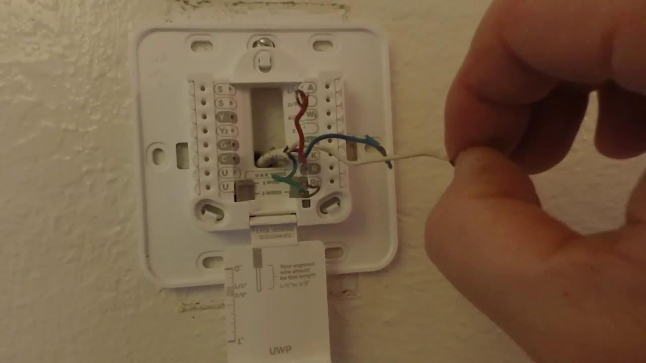 Hvac Thermostat Install