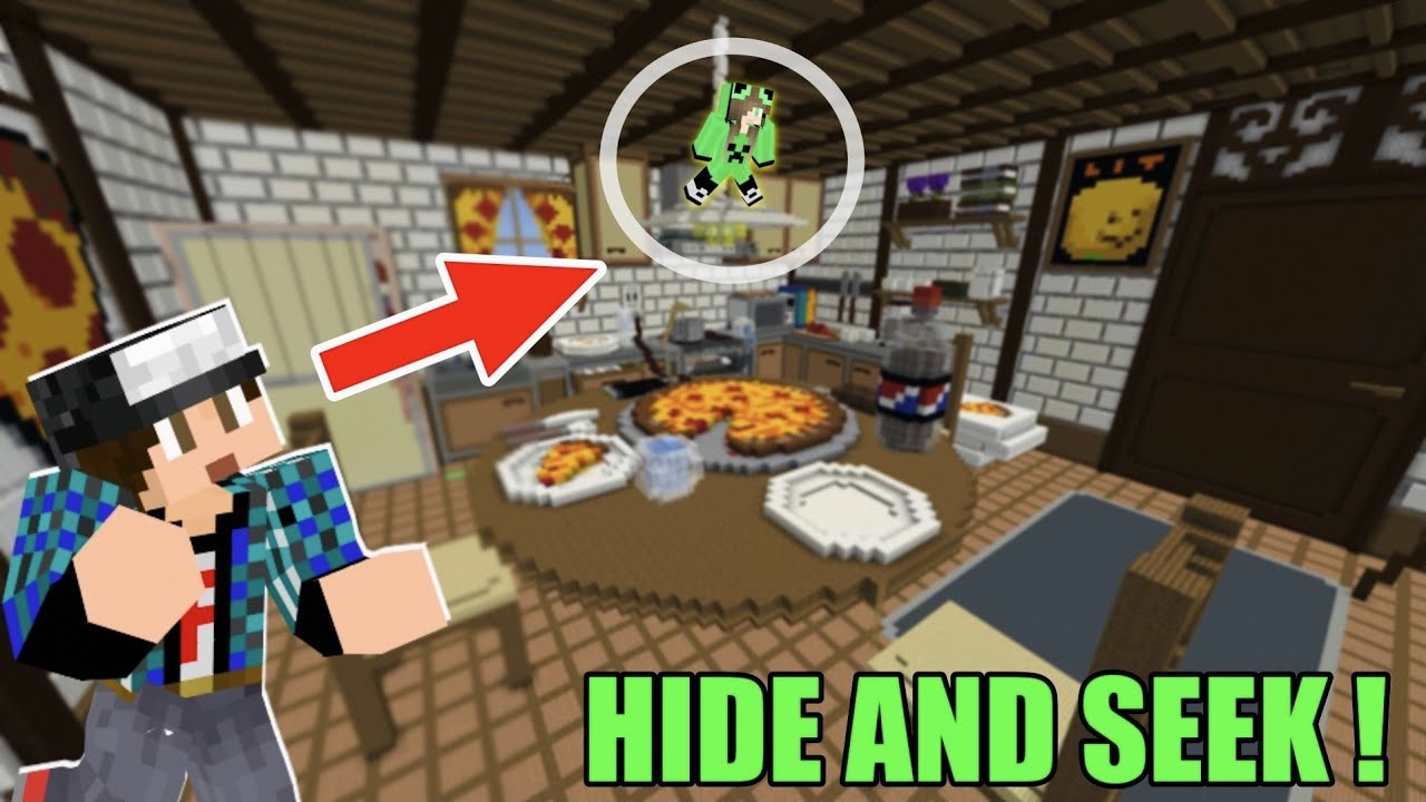 HIDE AND SEEK στην τεράστια πιτσαρία Minecraft Famous Games
