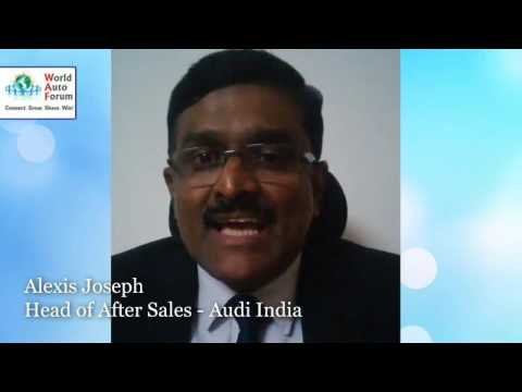 Audi India - Head of After Sales,  Mr. Alexis Joseph at IVASS2015