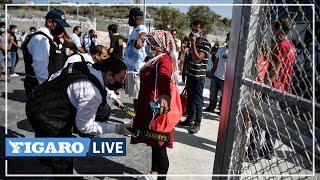 🔴En Grèce, les migrants arrivent dans un nouveau camp financé par l'Union européenne
