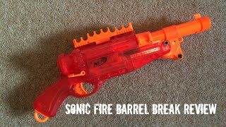 Nerf N-Strike Sonic Fire Barrel Break IX-2 Unboxing, Overview & Firing Test