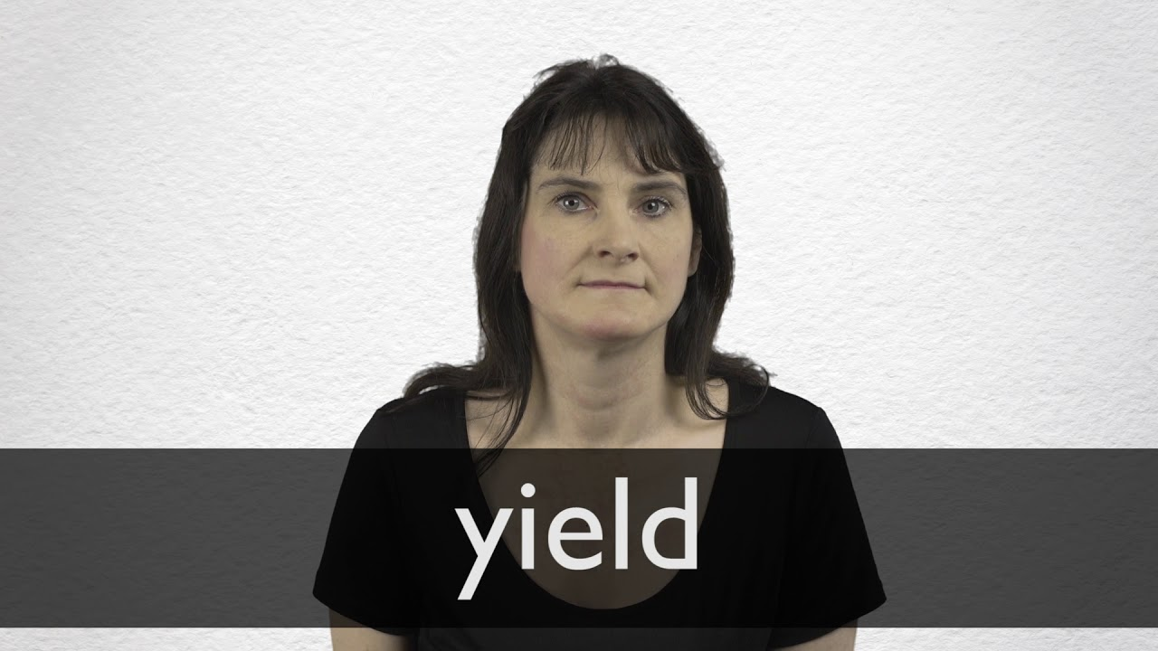 How to pronounce YIELD in British English