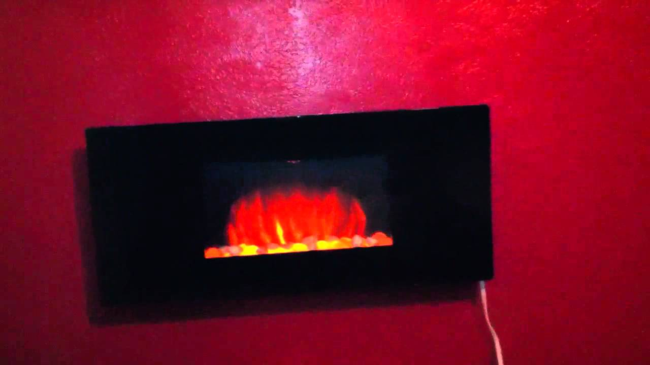 chimney free wall mounted electric fireplace youtube