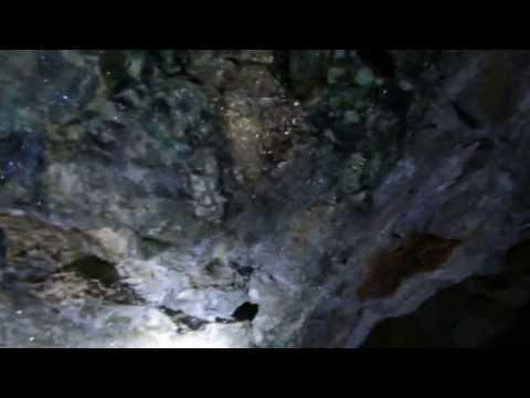 Miner Chipping High Grade Ore 300 Feet Underground in His Nevada Copper Mine