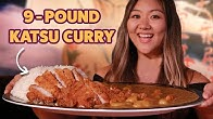 I Challenged My Friend To Finish A 9-Pound Japanese Katsu Curry • Giant Food Time