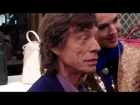 Mick Jagger + L'Wren Scott @ Longchamp Launch London Sept 2013