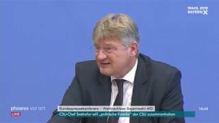 Pressekonferenz zum Ergebnis der AfD bei der Landtagswahl in Bayern am 15.10.18