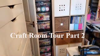 Craft room tour Part 2. How I organize my craft room!