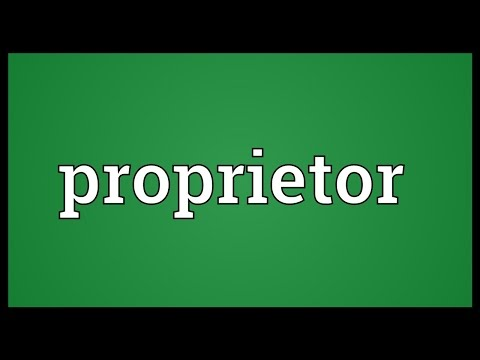Proprietor Meaning