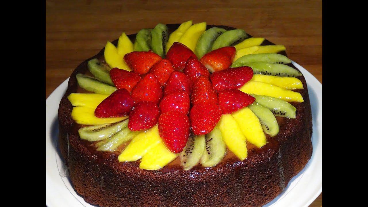 Receta Tarta de chocolate con fruta (Tarta de Mama) - Recetas de cocina, paso a paso, tutorial