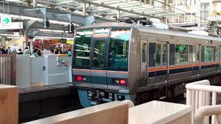 JR京都線207系普通高槻行き 大阪発車 207系三菱IGBT普通西明石行き 到着