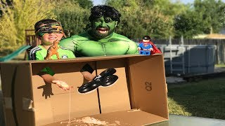 Hulk vs Carter! WHATS IN THE BOX CHALLENGE? | Kids Challenge Game In Real Life