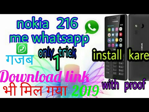 How to download and install whatsapp in Nokia 216 2019