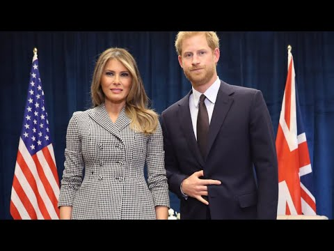 What Hand Sign Did Prince Harry Make During Photo With Melania Trump?
