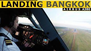 Airbus A380 Landing Bangkok Suvarnabhumi Rwy 01R - Pilot Alexander