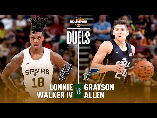 Lonnie Walker & Grayson Allen Duel In 2018 NBA Summer League Debut!