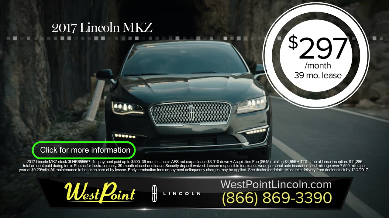 Great Lease Offers On Lincoln Mkc And Mkz Models