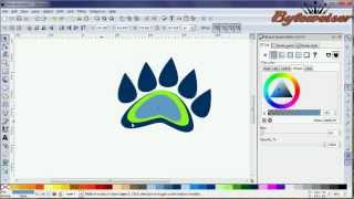 Byteweiser Inkscape Tutorial #12: Make a Cartoon Style Bear Paw