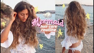 My mermaid hair care routine 🐬💦