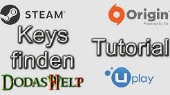 Tutorial: 🔑 Keys finden in Uplay, Steam und Origin