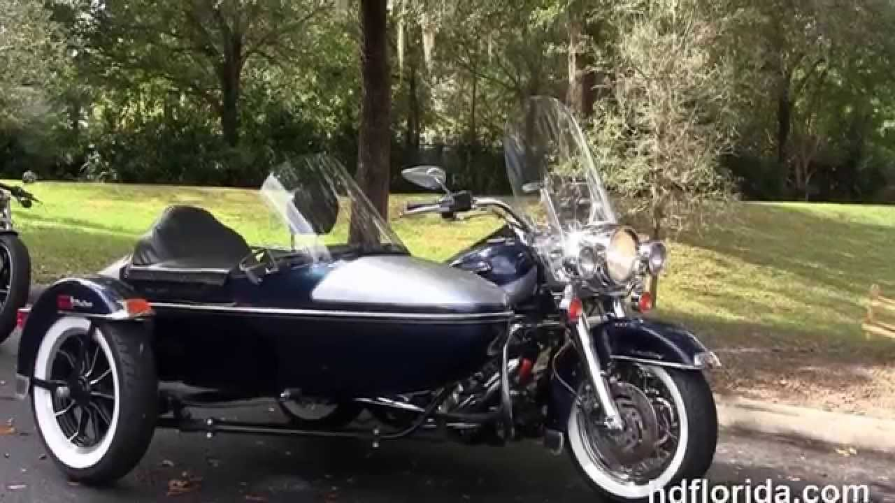 used 2002 harley davidson road king with sidecar motorcycles for sale youtube. Black Bedroom Furniture Sets. Home Design Ideas