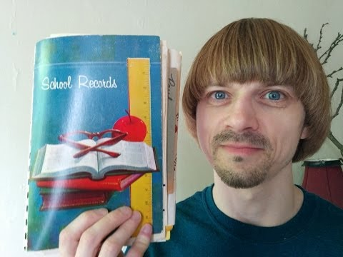 My School Records Book 1975-1988 -(Weird Paul)  Last Day of School 2014 Vlog