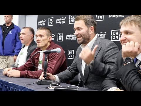 OLEKSANDR USYK V CHAZZ WITHERSPOON *FULL POST FIGHT PRESS CONFERENCE* WITH EDDIE HEARN