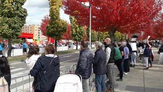 Protesta de hosteleros en Pamplona coincidiendo con la Vuelta a España