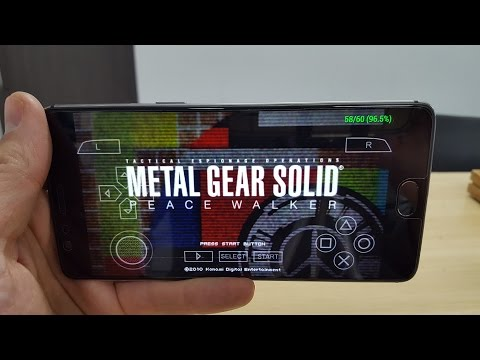 Metal Gear Solid: Peace Walker gameplay Android smartphone ONEPLUS 3T  PPSSPP Snapdragon 821