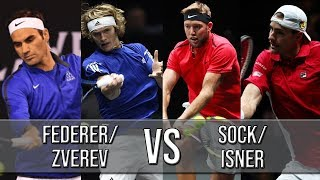 Federer/Zverev Vs Sock/Isner - Laver Cup 2018 (Highlights HD)