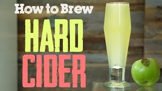 How To: Hard Apple Cider With Ginger and Lemon From Scratch(ish)