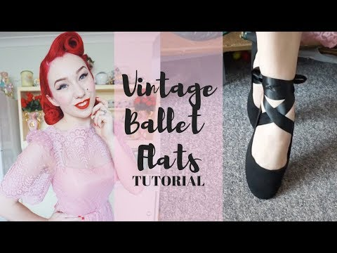 Vintage Ballet Flat Tutorial | Craft Pinup Project
