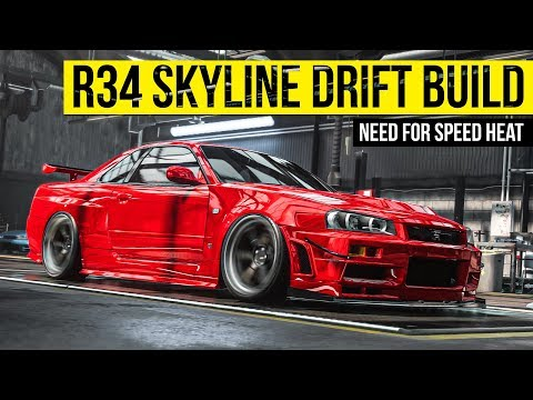 R34 SKYLINE DRIFT BUILD | NEED FOR SPEED HEAT