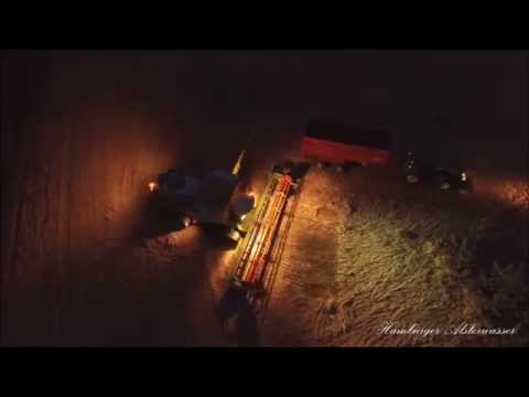 At night Harvest Claas Lexion 780  TERRA TRAC 2015  John Deere