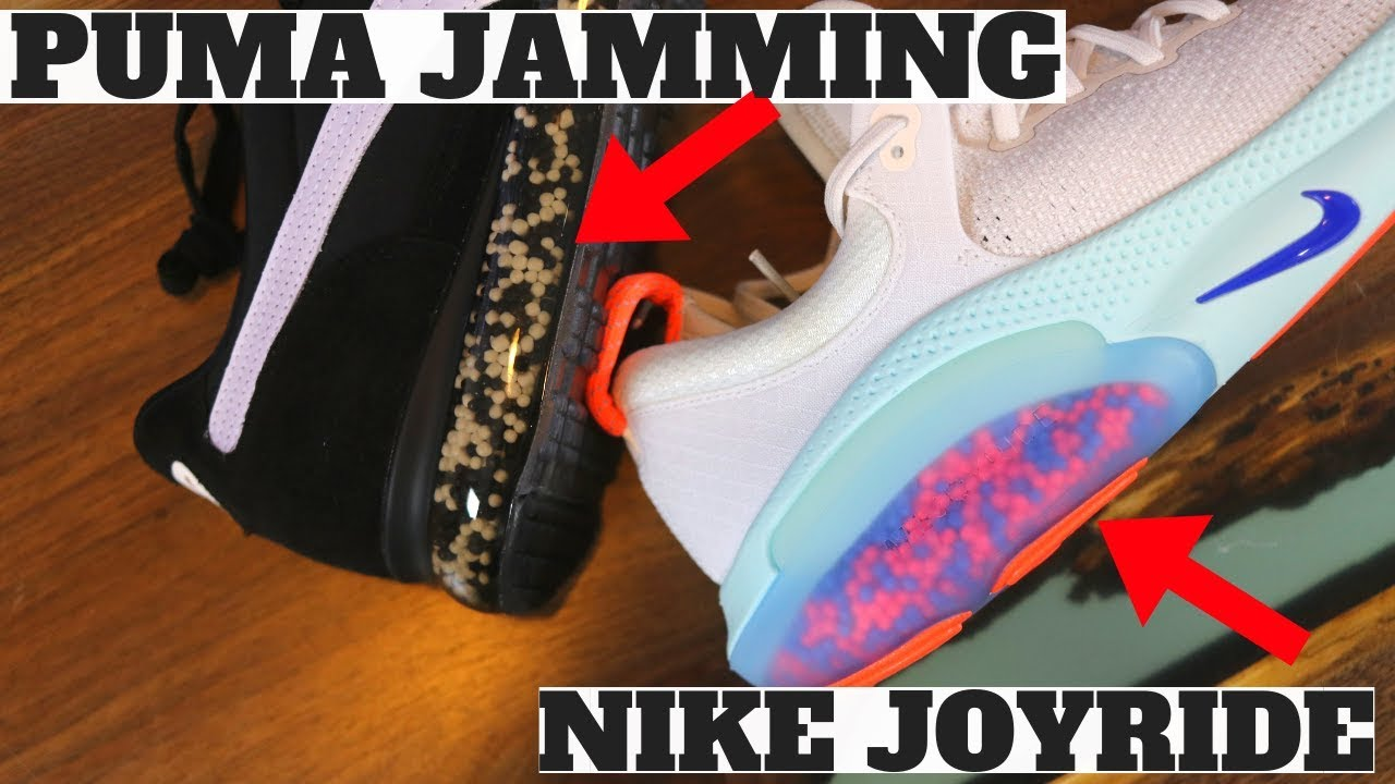 code promo 95431 73ed8 NIKE JOYRIDE vs PUMA JAMMING! (BOOST, REACT, NRGY, 4D, ZOOMX Compared)