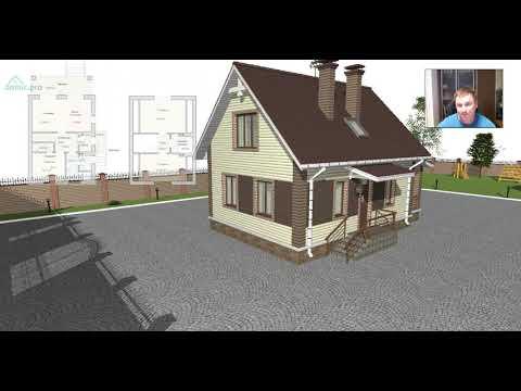 Проект оптимального небольшого мансардного дома «Ульяновск вариант» A-422-ТП