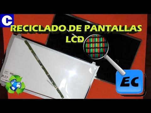 Que se puede hacer con una pantalla de TV o notebook rota LCD. Reciclado