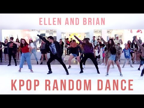 KPOP Random Play Dance in Los Angeles  Ellen and Brian