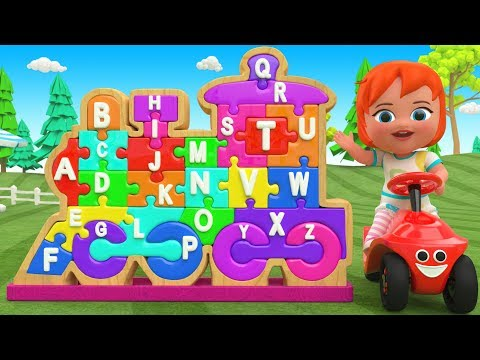 ABC Songs for Children - Little Baby Fun Learning Alphabets Wooden Toy Train Puzzle Nursery Rhymes