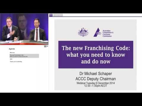 The new Franchising Code -  what you need to know and do now