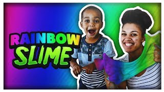 DIY RAINBOW SLIME | THE PRINCE FAMILY