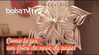Como fazer floco de neve de papel