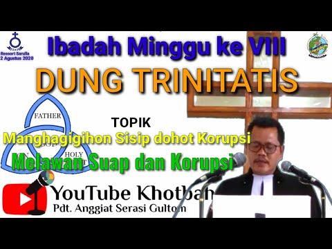 Ibadah Minggu Ke VIII Dung Trinitatis - HKBP Resort Sarulla - 2 Agustus 2020 (Pdt. Anggiat S Gultom)