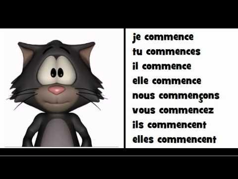 La Grammaire En Chantant Le Verbe Commencer Youtube