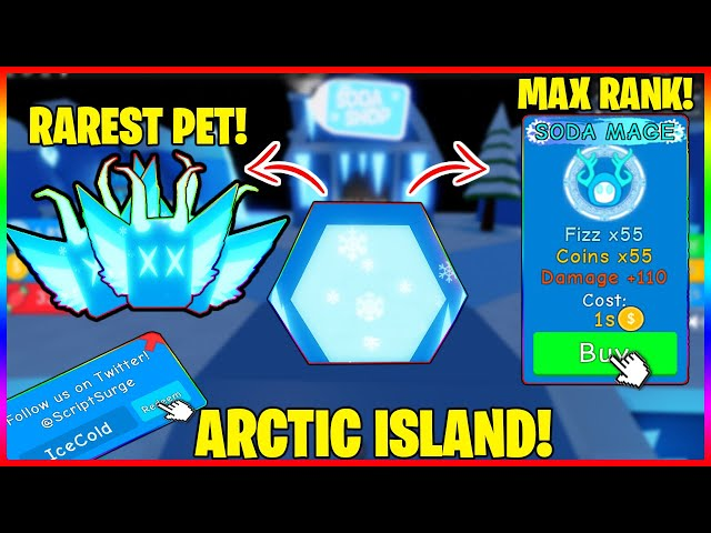 Soda Simulator New Arctic World I Hatched The Best Pet Insanely Op Max Rank Twitter Codes Youtube