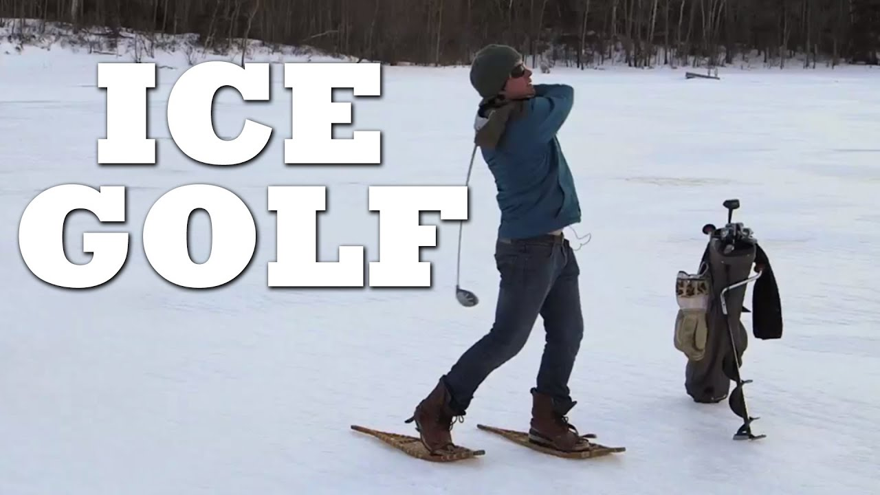 how to play ice golf youtube