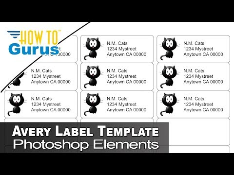 How to Use Free Avery Label Photoshop Templates in Photoshop Elements 2018 15 14 13 12 11