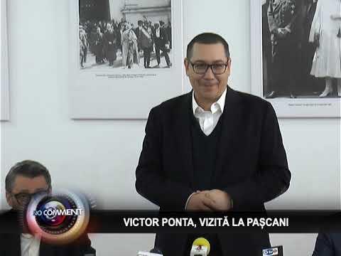 VICTOR PONTA, VIZITĂ LA PAȘCANI