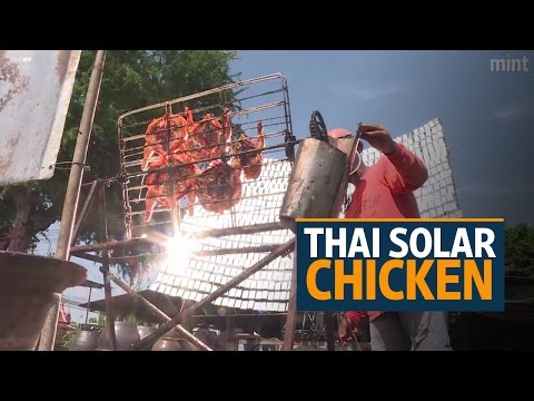 Thai solar chicken - a hot hit